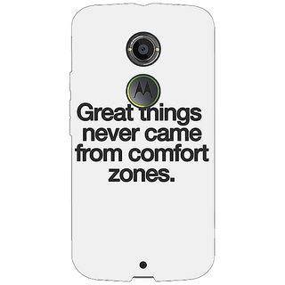 1 Crazy Designer Quotes Back Cover Case For Moto X (2nd Gen) C231196