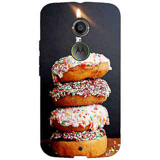1 Crazy Designer Donut Birthday Back Cover Case For Moto X (2nd Gen) C231218