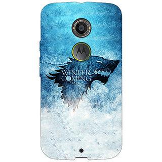 1 Crazy Designer Game Of Thrones GOT House Stark Back Cover Case For Moto X (2nd Gen) C231549