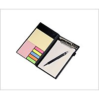 Coi Memo Note Pad/Note Book With Sticky Notes Clip Holder In Diary Style