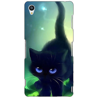 1 Crazy Designer Cute Black Kitten Back Cover Case For Sony Xperia Z3 C261138
