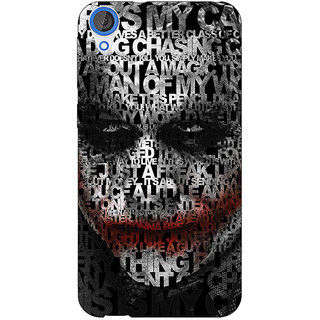 1 Crazy Designer Villain Joker Back Cover Case For HTC Desire 820 C280047