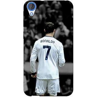 1 Crazy Designer Cristiano Ronaldo Real Madrid Back Cover Case For HTC Desire 820 C280315