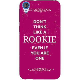 1 Crazy Designer SUITS Quotes Back Cover Case For HTC Desire 820 C280484