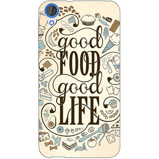 1 Crazy Designer Good Food Quote Back Cover Case For HTC Desire 820 C281226