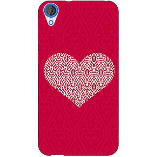 1 Crazy Designer Hearts Back Cover Case For HTC Desire 820 C281425