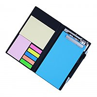Coi Memo Neon Blue Note Pad/Memo Note Book With Sticky Notes Clip Holder