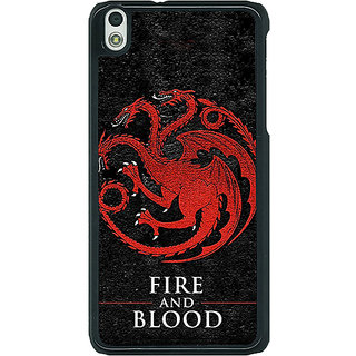 1 Crazy Designer Game Of Thrones GOT House Targaryen  Back Cover Case For HTC Desire 816G C400200