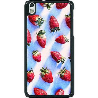 1 Crazy Designer StrawberryPattern Back Cover Case For HTC Desire 816G C400202