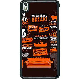 1 Crazy Designer FRIENDS Back Cover Case For HTC Desire 816G C400449
