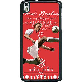 1 Crazy Designer Arsenal Dennis Bergkamp Back Cover Case For HTC Desire 816G C400501
