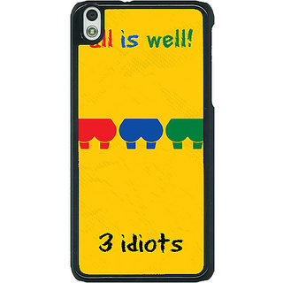1 Crazy Designer Bollywood Superstar Three Idiots Back Cover Case For HTC Desire 816G C401104