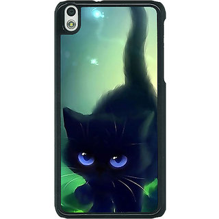 1 Crazy Designer Cute Black Kitten Back Cover Case For HTC Desire 816G C401138