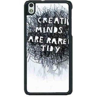 1 Crazy Designer Quote Back Cover Case For HTC Desire 816G C401356