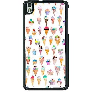 1 Crazy Designer Ice cream Doodle Back Cover Case For HTC Desire 816G C401358