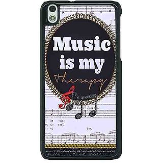 1 Crazy Designer Music Quote Back Cover Case For HTC Desire 816G C401402