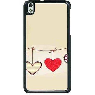 1 Crazy Designer Hearts Back Cover Case For HTC Desire 816G C401406