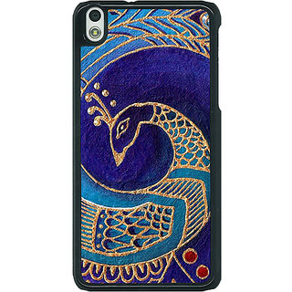 1 Crazy Designer Paisley Beautiful Peacock Back Cover Case For HTC Desire 816G C401589