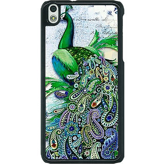 1 Crazy Designer Paisley Beautiful Peacock Back Cover Case For HTC Desire 816G C401591