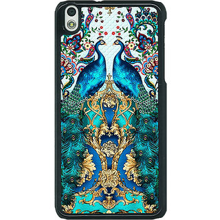1 Crazy Designer Paisley Beautiful Peacock Back Cover Case For HTC Desire 816G C401593