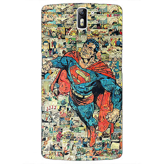 1 Crazy Designer Superheroes Superman Back Cover Case For OnePlus One C410038