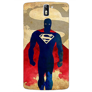 1 Crazy Designer Superheroes Superman Back Cover Case For OnePlus One C410040