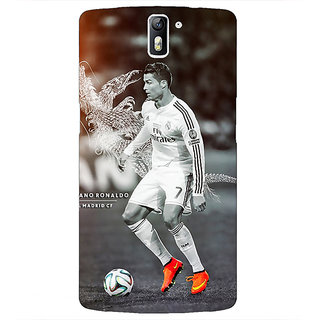 1 Crazy Designer Cristiano Ronaldo Real Madrid Back Cover Case For OnePlus One C410312