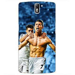 1 Crazy Designer Cristiano Ronaldo Real Madrid Back Cover Case For OnePlus One C410314