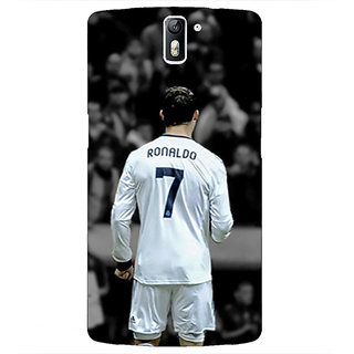 1 Crazy Designer Cristiano Ronaldo Real Madrid Back Cover Case For OnePlus One C410315