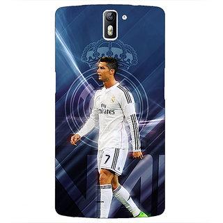 1 Crazy Designer Cristiano Ronaldo Real Madrid Back Cover Case For OnePlus One C410317