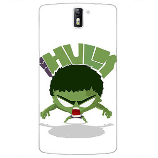 1 Crazy Designer Superheroes Hulk Back Cover Case For OnePlus One C410323