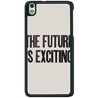 1 Crazy Designer Future Quote Back Cover Case For HTC Desire 816G C401205