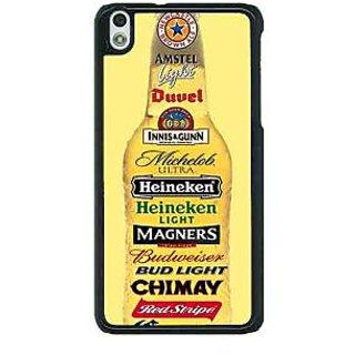 1 Crazy Designer Beer Bottle Back Cover Case For HTC Desire 816G C401248