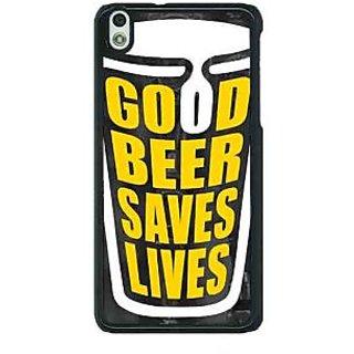 1 Crazy Designer Beer Quote Back Cover Case For HTC Desire 816G C401250