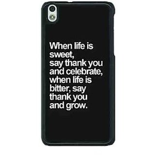 1 Crazy Designer Quote Back Cover Case For HTC Desire 816G C401473