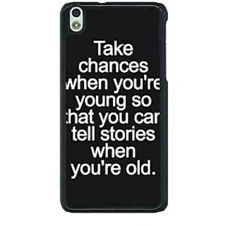 1 Crazy Designer Quote Back Cover Case For HTC Desire 816G C401476
