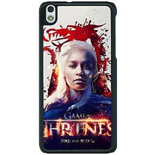 1 Crazy Designer Game Of Thrones GOT Khaleesi Daenerys Targaryen Back Cover Case For HTC Desire 816G C401539