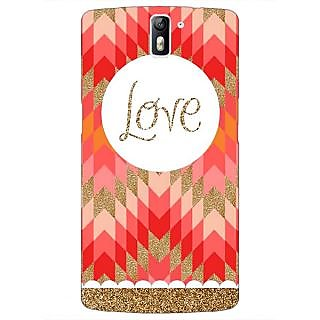 1 Crazy Designer Love Back Cover Case For OnePlus One C410096