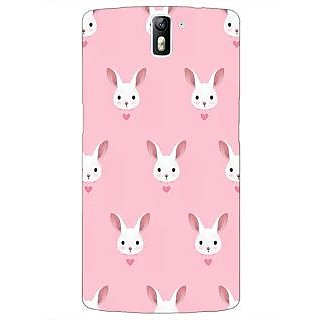 1 Crazy Designer Rabbit Back Cover Case For OnePlus One C410098