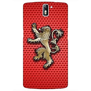 1 Crazy Designer Game Of Thrones GOT House Lannister  Back Cover Case For OnePlus One C410155