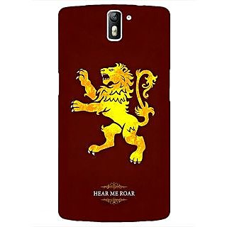 1 Crazy Designer Game Of Thrones GOT House Lannister  Back Cover Case For OnePlus One C410162