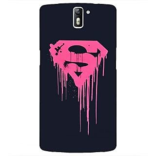 1 Crazy Designer Superheroes Superman Back Cover Case For OnePlus One C410379