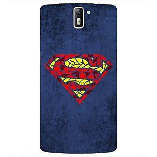1 Crazy Designer Superheroes Superman Back Cover Case For OnePlus One C410381