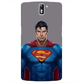 1 Crazy Designer Superheroes Superman Back Cover Case For OnePlus One C410382