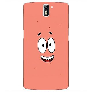 1 Crazy Designer Spongebob Patrick Back Cover Case For OnePlus One C410465