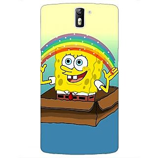 1 Crazy Designer Spongebob Back Cover Case For OnePlus One C410469