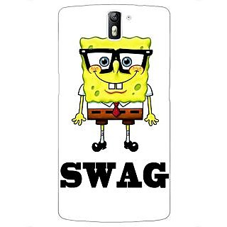 1 Crazy Designer Spongebob Back Cover Case For OnePlus One C410473