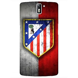 1 Crazy Designer Athletico Madrid Back Cover Case For OnePlus One C410521