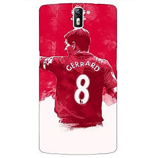 1 Crazy Designer Liverpool Gerrard Back Cover Case For OnePlus One C410545