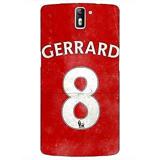 1 Crazy Designer Liverpool Gerrard Back Cover Case For OnePlus One C410546